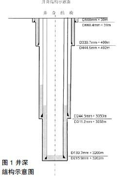 安56-1 井钻井井身结构如图所示,包括井眼尺寸,井段,套管尺寸,层次,尾